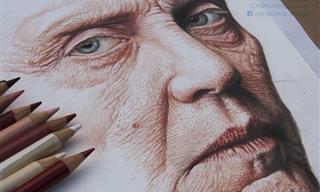 ציורי פורטרטים של כוכבי הוליווד