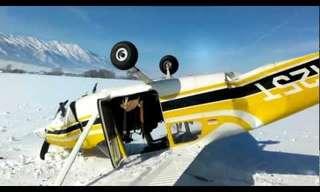 התרסקות במטוס - תיעוד מטורף בזמן אמת!