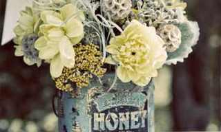 עיצובי פרחים בפחיות שימורים