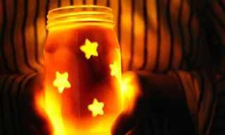עשו זאת בעצמכם: צנצנות מאירות
