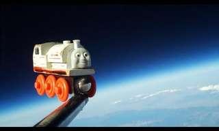 הקטר שהגיע לחלל - חמוד!