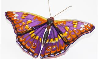 15 יצירות מרהיבות של פרפרים העשויים מזכוכית