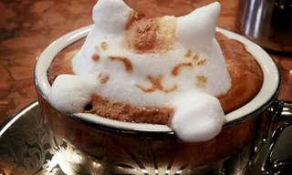 יפה כמו כוס קפה - פיסול וציור בקצף הלאטה