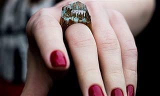 עולם שלם בתוך טבעת: עיצובים מיוחדים שידהימו אתכם