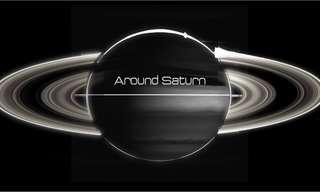 ואלס מסביב לשבתאי - צילומי החללית קאסיני