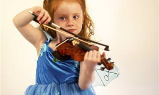 אוסף נהדר של ילדים מוכשרים מנגנים מוזיקה קלאסית