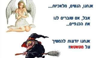 ההבדל בין מלאך למכשפה הוא בכנפיים