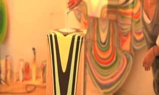יופי בפשטות - שפיכת צבע אומנותית!