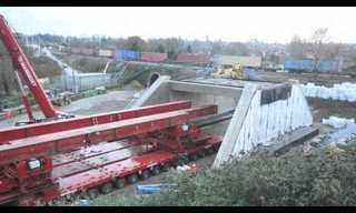 החלפת גשר במסילה - מדהים!