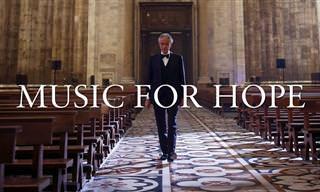 אנדראה בוצ'לי בהופעה מיוחדת בקתדרלת מילאנו הריקה, עם מסר מיוחד לעולם