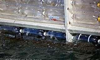 סירה מבקבוקי פלסטיק חוצה את האוקיינוס!
