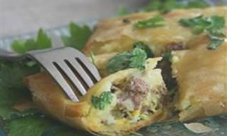 מתכון לבריק במילוי תפוחי-אדמה ובשר