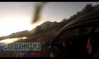 מכונית BMW מחליקה במורד תהום