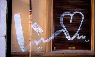 ציורי קיר של אמן הרחוב מיסטר X