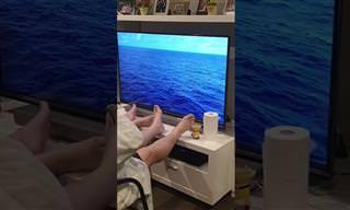 הסרטון המצחיק הזה מראה איך לצאת לקרוז בלי לעזוב את הסלון!