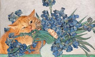 הכירו את זרתוסטרה – החתול השמנמן שמתפרץ ליצירות אומנות