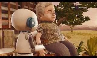 הגברת והרובוט - סרטון אנימציה מרגש