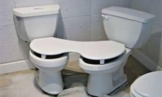 19 תמונות של שירותים מוזרים במקומות מפתיעים במיוחד