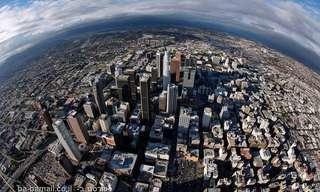 תמונות של לוס אנג'לס שצולמו מהאוויר
