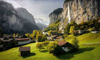 סדרת תמונות של עמק לאוטרברונן הקסום בשווייץ