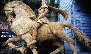 18 פסלי קש מדהימים מרחבי העולם