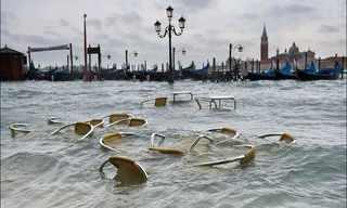 הצפה בונציה - תמונות שעולות על גדותיהן!