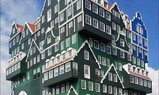 מלון אחד מורכב מערימה של 70 בתים!