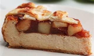 מתכון לפאי תפוחים על בסיס עוגת גבינה