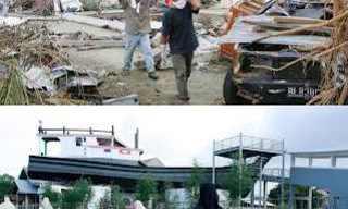 אסונות בעולם - תמונות אחרי השיקום