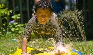מלחמת מים בהילוך איטי - מחווה לסוף הקיץ!