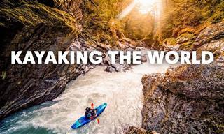 4 חותרי קיאק מקצוענים יוצאים לחתור ב-4 מהנהרות העוצמתיים בעולם