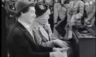 האחים מרקס בדואט פסנתר משעשע!