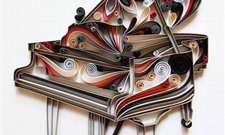 20 יצירות אומנות גלגולי הנייר של גרגנה פנצ'יבה