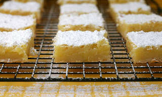 מתכון נפלא של ריבועי סוכר ולימון