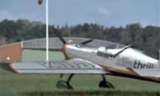 לא להאמין - הנחתת מטוס עם כנף אחת!!!