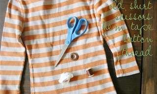 מדריך: מחולצה ישנה לקרדיגן מדליק