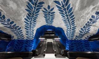 עיצובים עוצרי נשימה של תחנות הרכבת התחתית בשטוקהולם