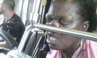 אנשים מוזרים בתחבורה הציבורית