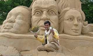 פסלי חול בהודו - יצירות מופת
