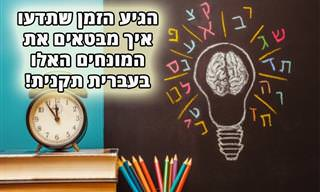 בחן את עצמך: איך אומרים בעברית תקנית את המילים הבאות?