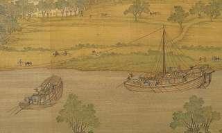 על גדות הנהר - ציור סיני עתיק