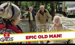 אל תהיה אדיש לקשיש - מתיחה מצחיקה!