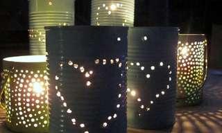 9 עיצובים מדליקים מפחיות שימורים ושתייה