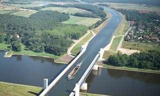 נהר מעל נהר - גשר המים של מגדבורג