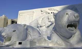 פסלי שלג מדהימים!