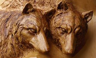 פסלי עץ מקסימים בהשראת הטבע של הפסל מורי קונו
