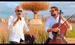 אנדראה בוצ'לי מבצע את השיר Melodramma בליווי צ'לו