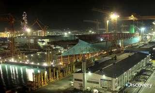 בניית האוניה הגדולה בעולם בטיים לאפס
