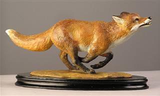 פסלי עץ של בעלי חיים של האמן ג'וזפה רומריו
