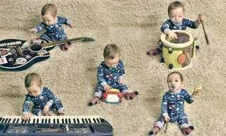 התינוק החמוד שהקים להקה לבדו